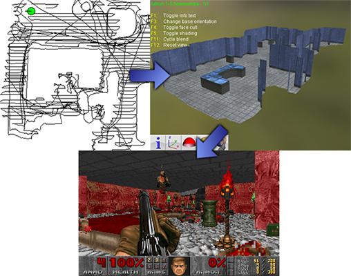 Используя робот-пылесос можно превратить свою квартиру в карту для Doom