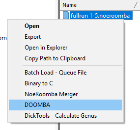 New Roomba context menu items.