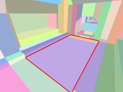 Tiles and quads rendered by color.