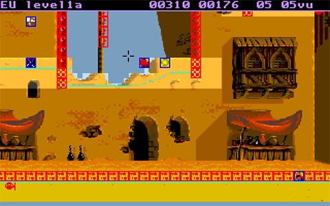 A screenshot of tUME with a level from Aladdin loaded up.